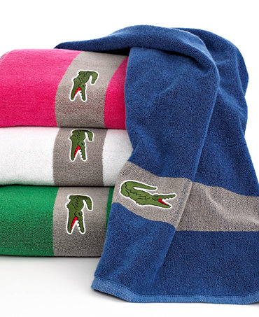 Shop Lacoste CLOSEOUT! Croc Solid Bath Towel Collection, Pure Cotton online at softballlearned.ml Step into luxury. The Croc Solid bath towels from Lacoste feature pure cotton for sumptuous texture and come in a rainbow of versatile hues. Finished with the signature Lacoste croc logo patch/5().