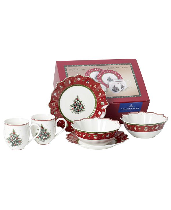 Villeroy & Boch Toys Delight 6 Piece Red Breakfast Set