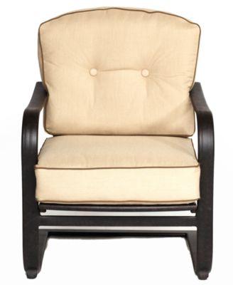 Bellingham Cast Aluminum Outdoor C Spring Club Chair