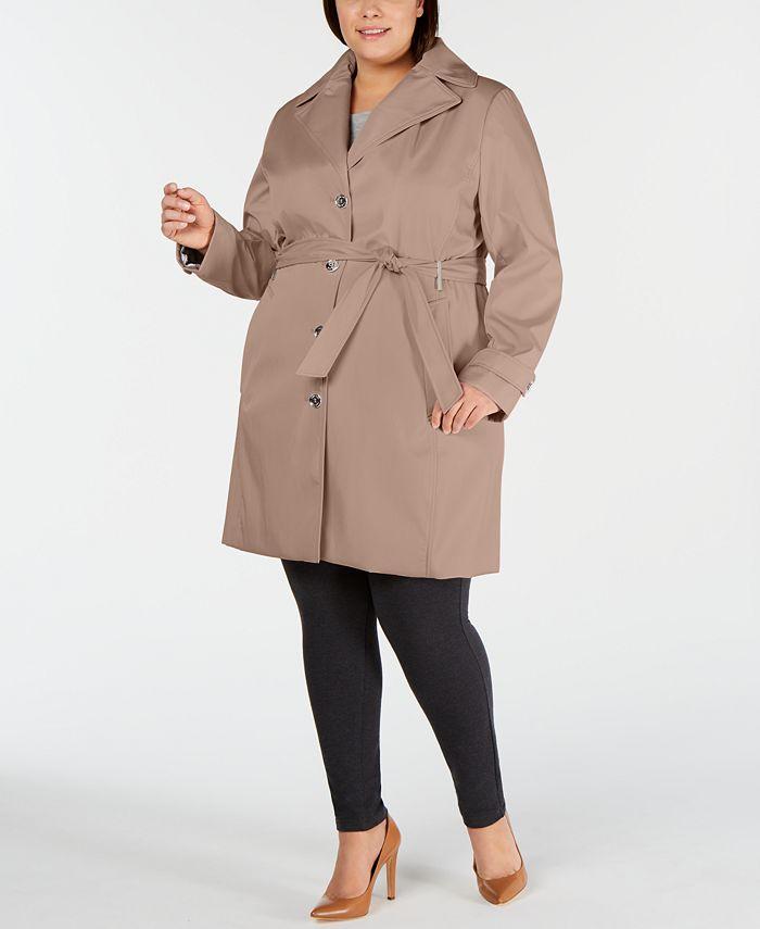 Calvin Klein - Plus Size Waterproof Trench Coat