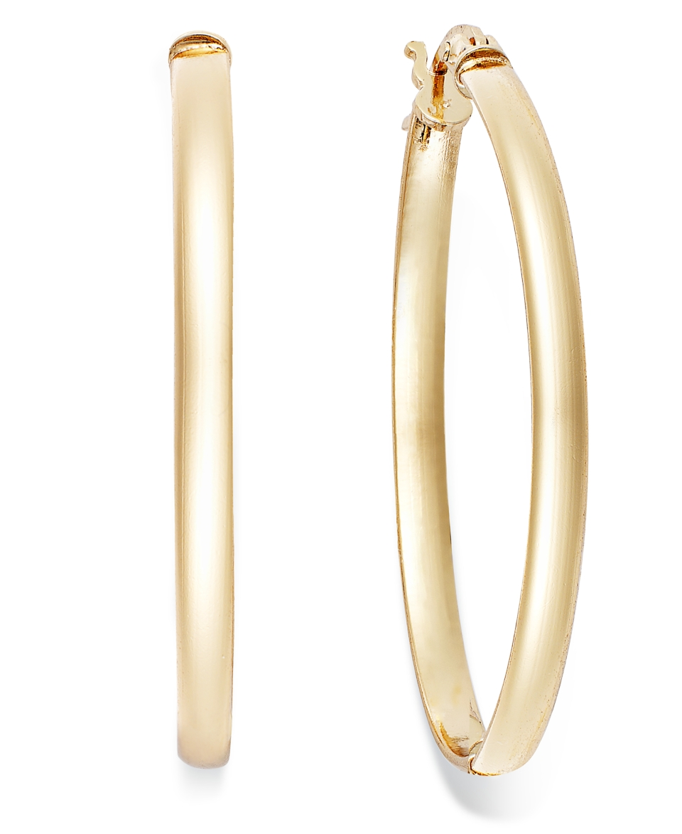Giani Bernini 24k Gold over Sterling Silver Earrings, Hoop Earrings   Earrings   Jewelry & Watches
