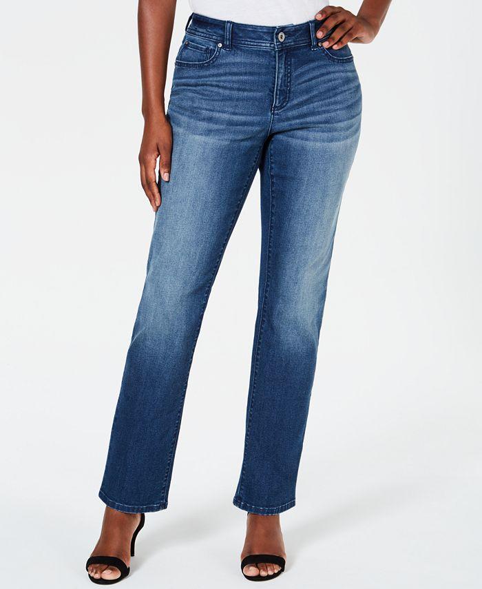 INC International Concepts - Curvy-Fit Straight-Leg Jeans