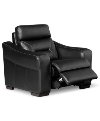Judson Leather Power Recliner Chair  sc 1 st  Macyu0027s & Clancy Leather Recliner - Furniture - Macyu0027s islam-shia.org