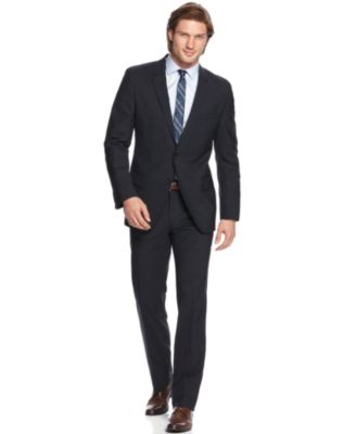 HUGO by Hugo Boss Grey Solid Extra-Slim-Fit Suit - Suits & Suit