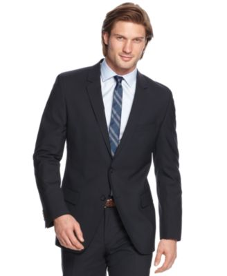 HUGO by Hugo Boss Suit Navy Solid Extra Slim Fit - Suits & Suit ...