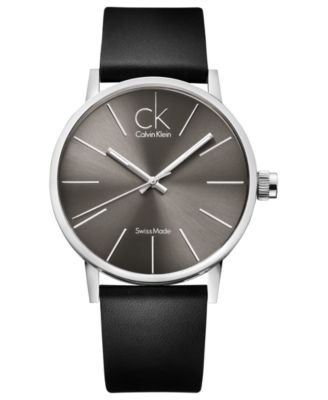 calvin klein men watches best watchess 2017 calvin klein watch men s swiss post minimal black leather strap