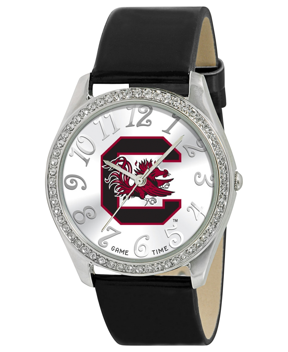 Game Time Watch, Womens University of South Carolina Black Leather Strap 40mm COL GLI SCA   Watches   Jewelry & Watches