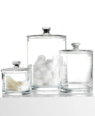 Hotel Collection Bath Accessories, Large Glass Jar