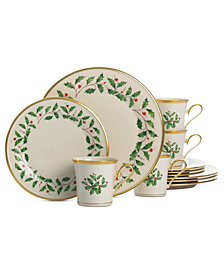 Lenox Holiday 12-Piece Plate & Mug Set