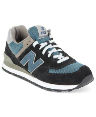 New Balance Classics 574 Series Men/'s Navy Lifestyle Athletic Shoes M574JN