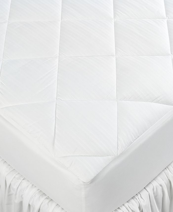 Lauren Ralph Lauren - 300 Thread Count Dobby Stripe King Mattress Pad