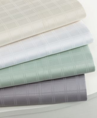 CLOSEOUT! Charter Club Bedding, Damask Dobby 500 Thread Count Queen Sheet Set