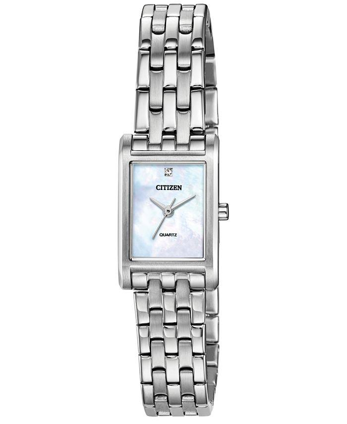 Citizen - Women's Quartz Stainless Steel Bracelet Watch 18x22mm