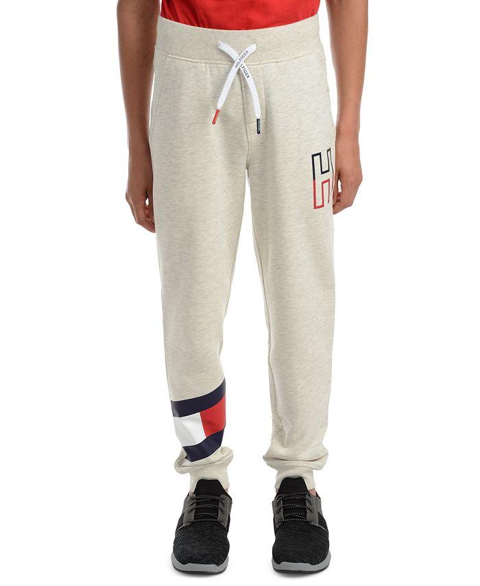 Tommy Hilfiger - Big Boys Kent Logo-Print Heather Fleece Sweatpants