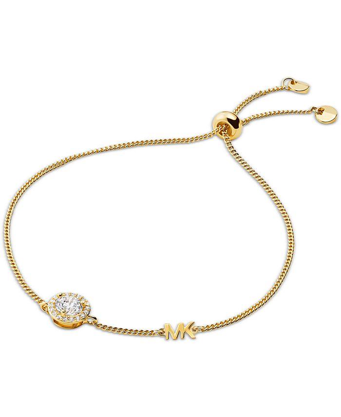 Michael Kors - Sterling Silver Cubic Zirconia Slider Bracelet