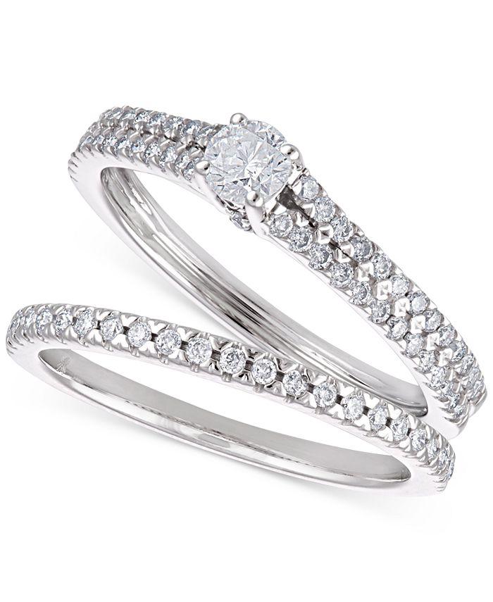 Macy's - Certified Diamond Bridal Set (5/8 ct. t.w.) in 14k White Gold
