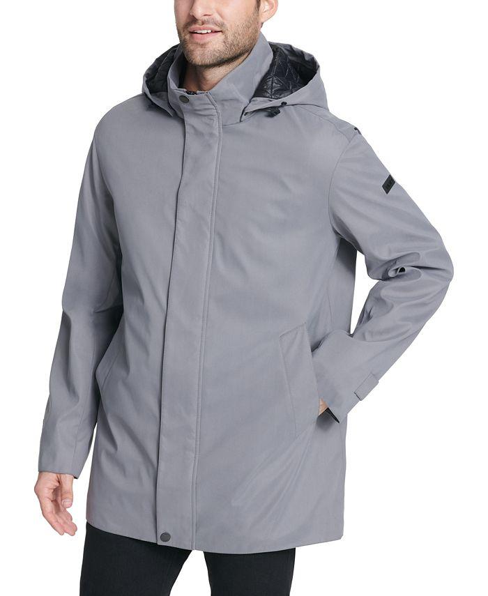 DKNY - Men's All Man Micro Fiber Hooded Trench Jacket