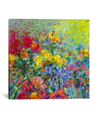 Clay Flowers by Iris Scott Wrapped Canvas Print - 26