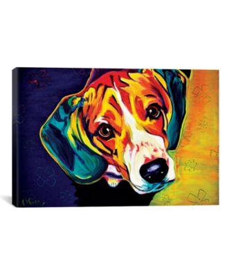 "Beagle Bailey by Dawgart Wrapped Canvas Print - 40"" x 60"""