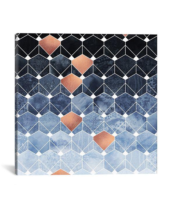 "iCanvas Copper Diamonds by Elisabeth Fredriksson Wrapped Canvas Print - 18"" x 18"""