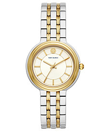 Tory Burch Women's Bailey Two-Tone Stainless Steel Bracelet Watch 34mm