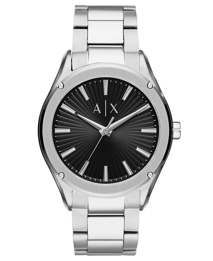 A|X Armani Exchange - Men's Fitz Stainless Steel Bracelet Watch 44mm