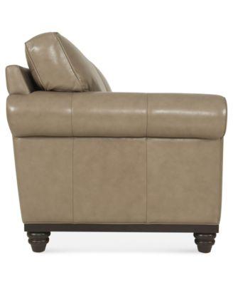 Martha Stewart Collection Leather Sofa Bradyn 89 W X 38 D H