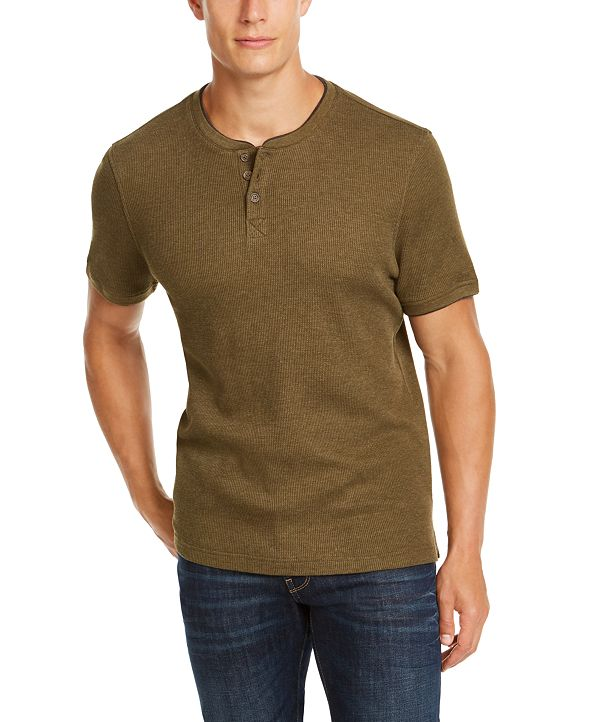 Club Room Men's Waffle-Knit Henley, Created for Macy's