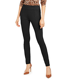 INC Plus Size Wide-Waistband Pull-On Pants, Created for Macy's
