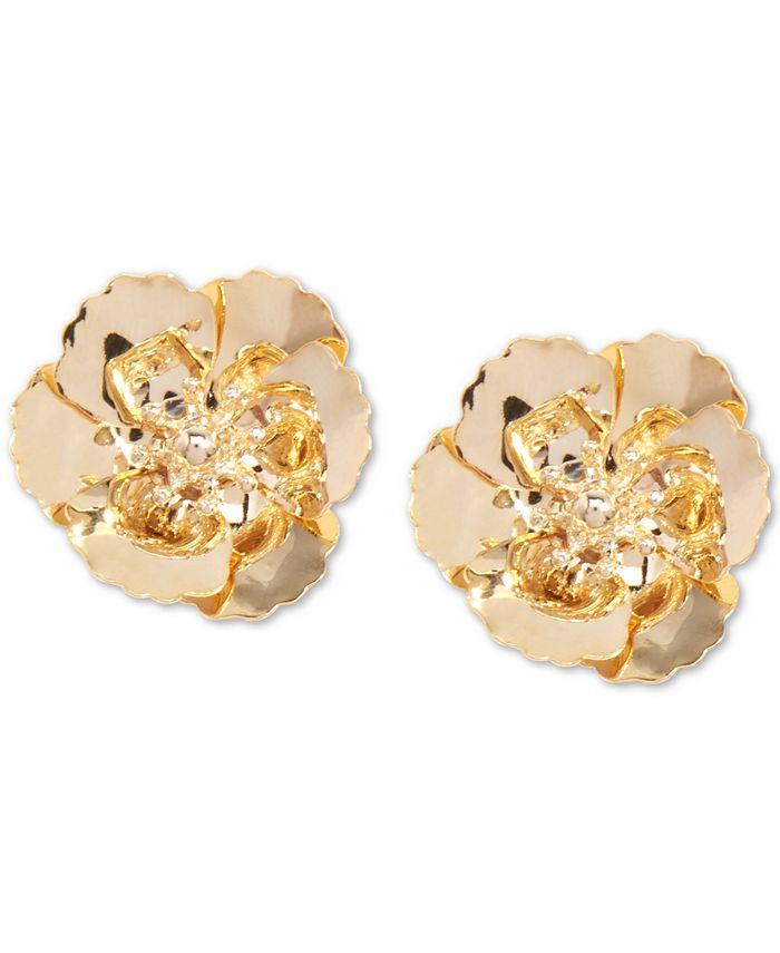 Zenzii - 18k Gold-Plated Poppy Stud Earrings