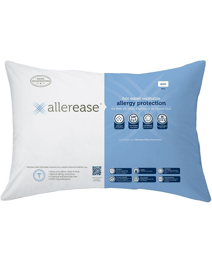 AllerEase - Hot Water Wash Firm Density Queen Pillow