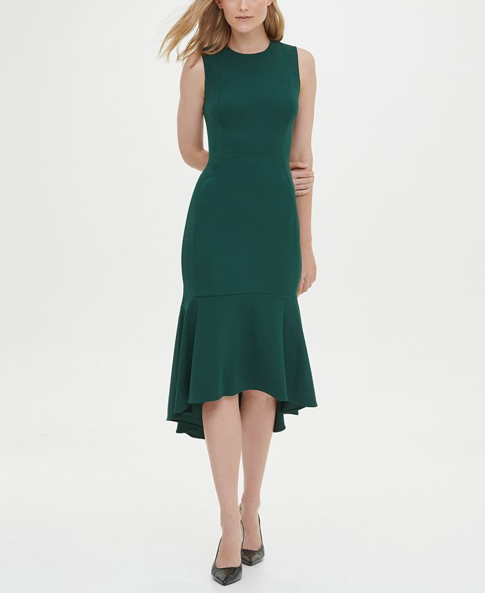 Calvin Klein - High-Low Midi Scuba Dress