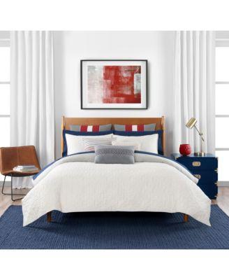 Quilted Monogram 3 Piece Full/Queen Comforter Set