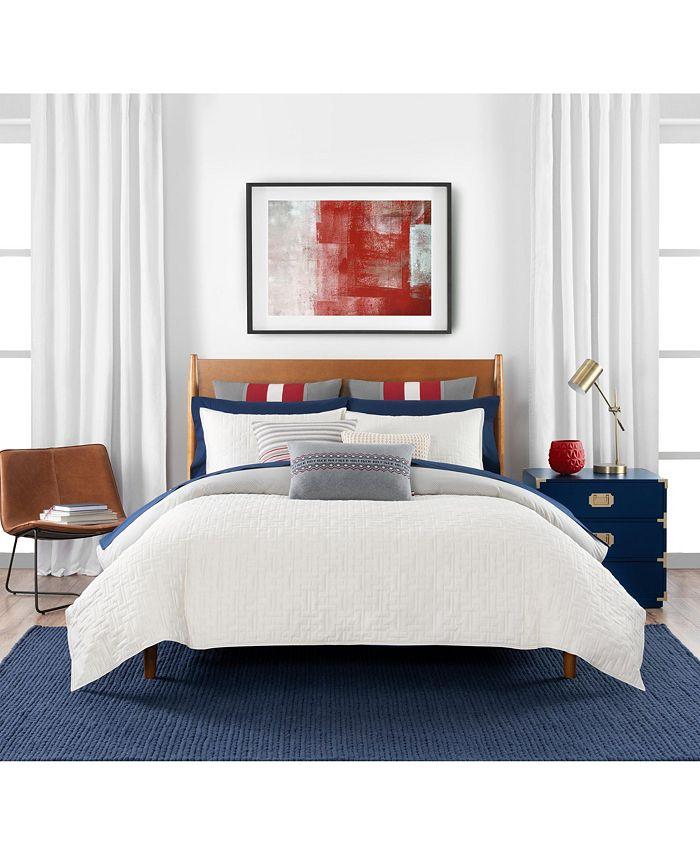 Tommy Hilfiger - Quilted Monogram 3 Piece Full/Queen Comforter Set