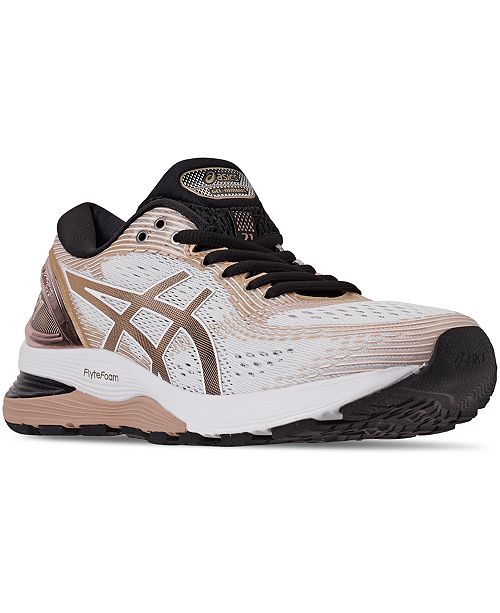Scoiattolo dai unocchiata larghezza  Asics Women's GEL-Nimbus 21 Platinum Running Sneakers from Finish Line &  Reviews - Finish Line Athletic Sneakers - Shoes - Macy's