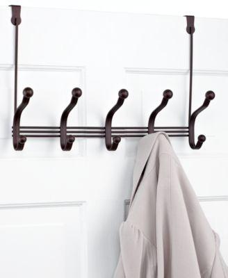 Interdesign Over the Door Rack, 5 Hook York Lyra