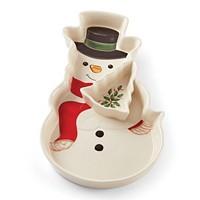 Deals on Lenox Holiday Entertaining Snowman Chip & Dip
