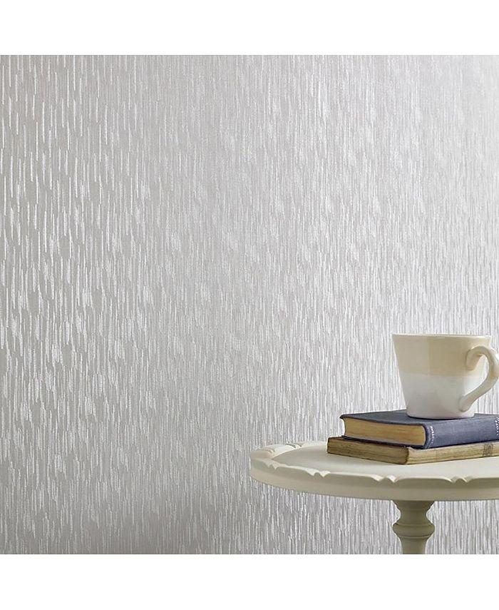 Graham & Brown - Silken Stria Silver Mist Wallpaper