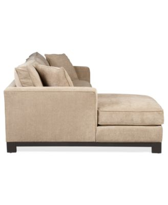 Kenton Fabric 2-Piece Chaise Sectional Apartment Sofa  sc 1 st  Macyu0027s : 2 piece chaise sectional - Sectionals, Sofas & Couches