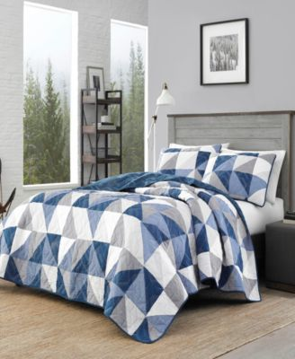 North Cove Navy Quilt Set, Twin