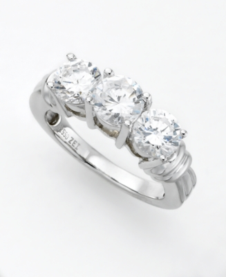 Platinum 2 ct. t.w. Diamond Three-Stone Ring