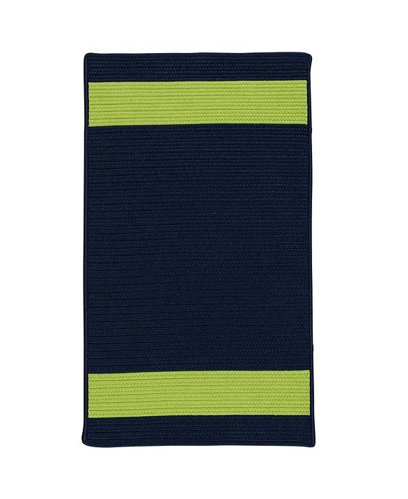 Colonial Mills Aurora Navy Green 2' x 4' Accent Rug