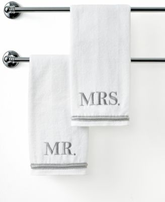 "Avanti Bath Towels, Mr. & Mrs. 16"" x 30"" Hand Towel"