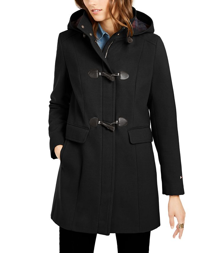 Tommy Hilfiger Hooded Coat Created For, Tommy Hilfiger Peacoat Macys