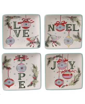 Believe 4-Pc. Canape Plate