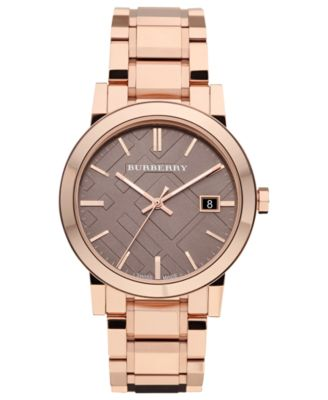 burberry watch men s swiss rose gold tone stainless steel burberry watch men s swiss rose gold tone stainless steel bracelet 38mm bu9005