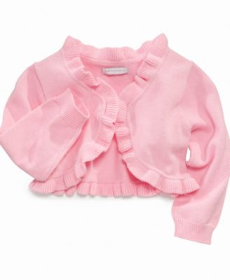 First Impressions Baby Sweater Baby Girls Ruffle Cardigan
