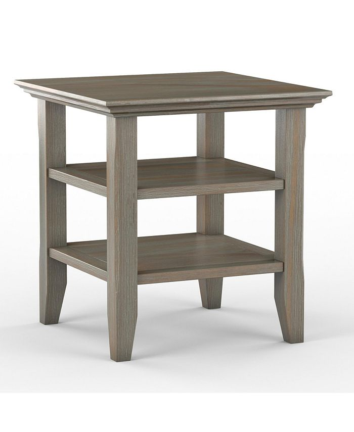 Simpli Home - Acadian End Table, Quick Ship