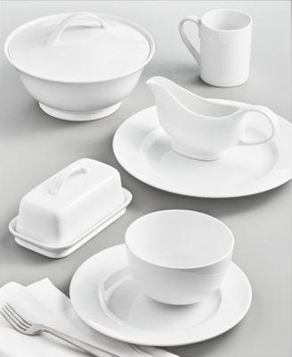 Whiteware Covered Vegetable Bowl