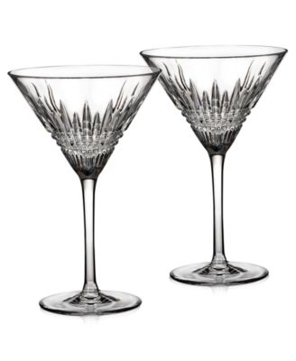 Waterford Barware, Lismore Diamond Martini Glasses, Set of 2